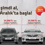 Toyota'dan 4 Ay Ertelemeli 6000 TL İndirimli Kredi Fırsatı