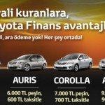 Toyoto'dan Aylık 500'e Yaris 600'e Auris 700'e Corolla 900'e Avensis