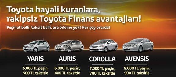 taksitle toyota kampanyası