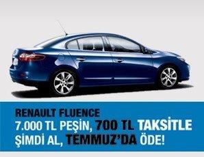 Taksitle Renault Fluence Kampanyası