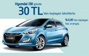 günde 30 TL taksitle Hyundai