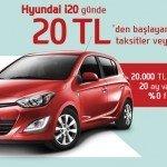 Hyundai'ler Günde 20 TL'den Başlayan Taksitlerle.