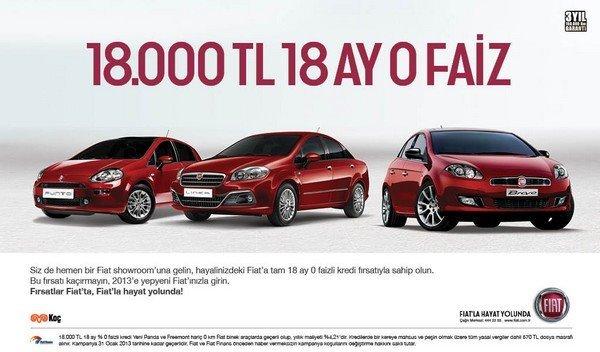 Fiat Şubat 2013 Binek Kampanya
