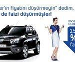 Dacia Duster Sıfır Faiz Kampanyası!