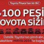 100TL Peşinat İle Toyota!